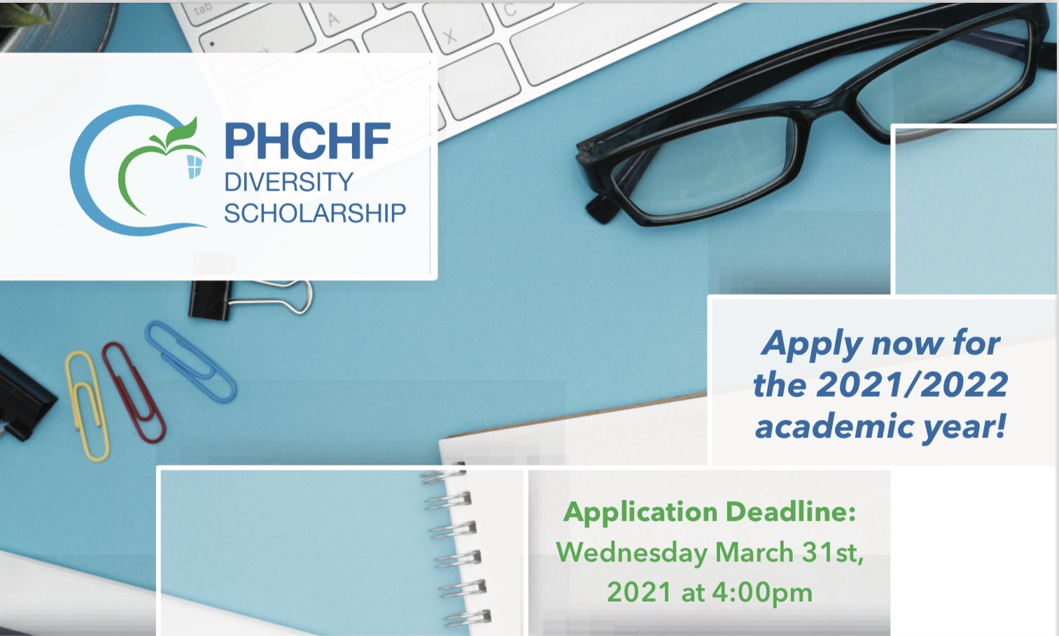 Diversity Scholarship Applications Deadline - 4pm